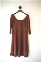 Chocolate BCBG Maxazria Peasant Dress, size M