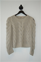 Palest Gray Rebecca Taylor Sweater, size XS