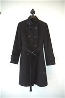 Basic Black No Label Coat, size 6
