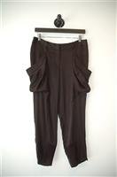 Satin Black BCBG Maxazria Cropped Trouser, size 4