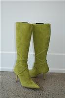 Acid Green Jimmy Choo Boots, size 8.5