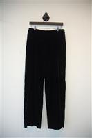 Black Velvet Giorgio Armani Wide-Leg Trouser, size 8