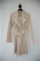 Light Beige Diane von Furstenberg Trench Coat, size S