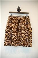 Animal Print Pink Tartan A-Line Skirt, size 10