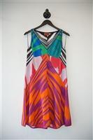 Multi-print Missoni Trapeze Dress, size 6