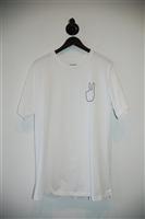 Bright White Rag & Bone T-Shirt, size L