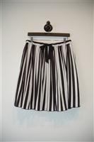Black & White Pink Tartan Pleated Skirt, size 8