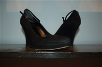 Black Suede Gucci Wedge, size 7.5
