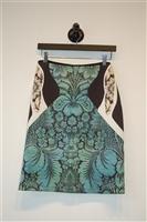 Floral La Pateau Pencil Skirt, size M