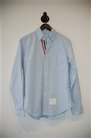 Sky Blue Thom Browne Button Shirt, size M