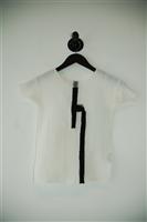 White & Black Issey Miyake Short-Sleeved Top, size S