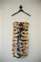Animal Print Kaufmanfranco Short Gown, size 6