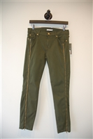 Military Green 7 For All Mankind Skinny Jean, size 30