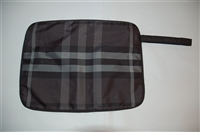 Gray Check Burberry Toiletry Case, size S