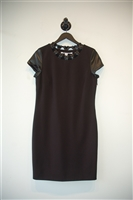 Basic Black Diane von Furstenberg Sheath Dress, size 10