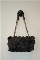 Black Leather DKNY Shoulder Bag, size S