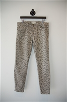 Animal Print Current / Elliott Skinny Jean, size 30