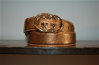 Bronze Gucci Belt, size M