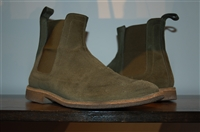Military Green Bottega Veneta Chelsea Boots, size 10