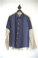 Navy & Beige Opening Ceremony Button Shirt, size L