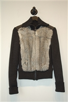 Charcoal Prada Zippered Sweater, size 6