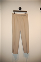 Light Khaki Akris - Punto Slacks, size 8