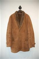 Saddle Brown Hide Society Canada Shearling Coat, size XL
