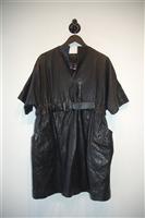 Black Leather Sarah Pacini Leather Dress, size M