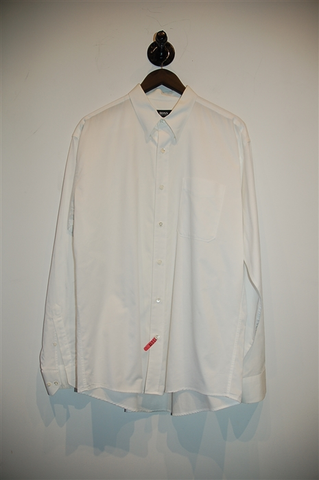 Soft White Hugo Boss - Boss Black Button Shirt, size L
