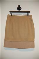 Beige BCBG Maxazria Pencil Skirt, size 10
