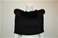 Basic Black Dior Cowl Scarf, size O/S