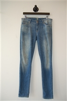 Faded Denim 7 For All Mankind Skinny Jean, size 30