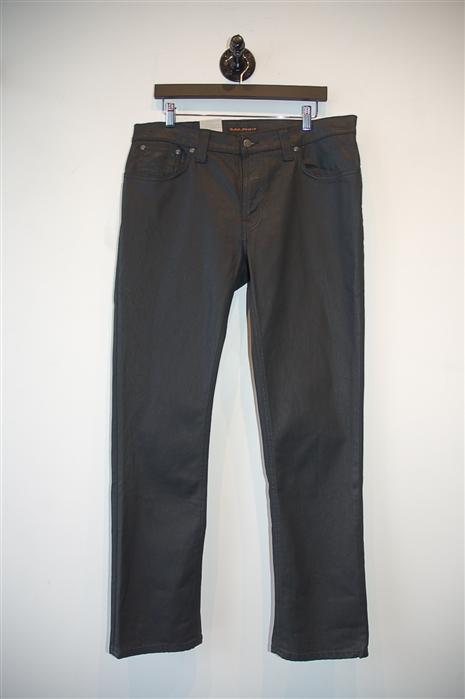Basic Black Nudie Jeans Denim, size 36