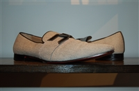 Black & Off-White Christian Louboutin Loafer, size 11
