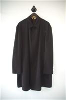 Basic Black Donna Karan Overcoat, size L