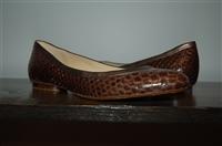 Snakeskin Alexandre Birman Flats, size 9
