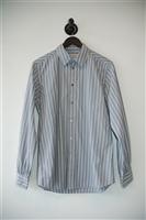 Striped Yves Saint Laurent Button Shirt, size M