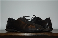 Black Leather Versace Collection Sneaker, size 9.5