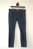 Dark Denim 7 For All Mankind Skinny Jean, size 30