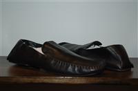 Black Leather Hugo Boss - Boss Driving Shoe, size 11