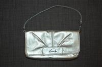 Metallic Silver Coach Pochette, size S