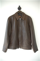 Espresso Hugo Boss - Boss Orange Leather Jacket, size L