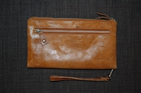 Aged Leather No Label Wristlet, size S