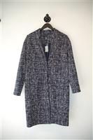 Navy & White Eleventy Coat, size 6