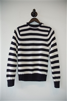 Navy & White Burberry - London Pullover, size M