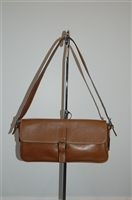 Aged Leather Coach Shoulder Bag, size S