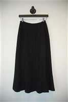 Basic Black Chanel Midi Skirt, size 2