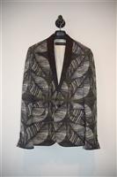 Floral DSquared2 Tuxedo Jacket, size 40