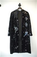 Black Velvet Dolce & Gabbana Evening Coat, size 6