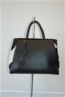 Black & White Fendi Handbag, size L